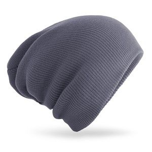 Just in - grey knitted wool beanie ski hat